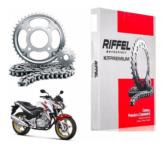Kit Relação Cb300r Cb 300 300r Riffel Kit Premium