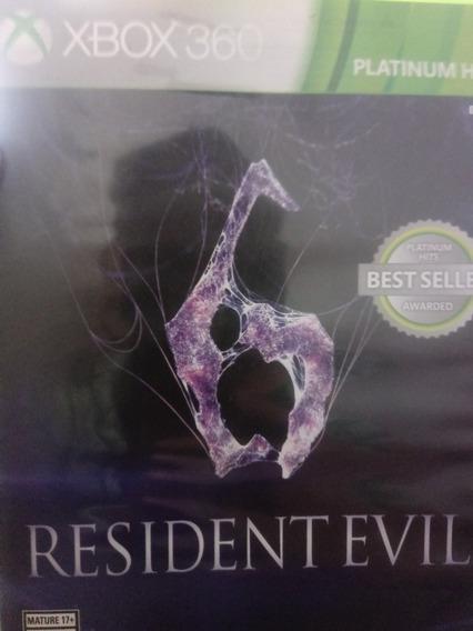 Residente Evil 6 Usado Xbox 360 Original Mídia Física