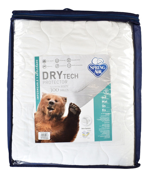 Protector Drytech Queen Size + 2 Almohadas Spring Air