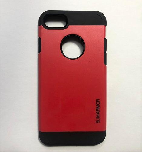 Protector Tough Armor + Vidrio iPhone 7 8 7 8 Plus Case