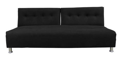 Imagen 1 de 7 de Sofacama Dual Tela Negro