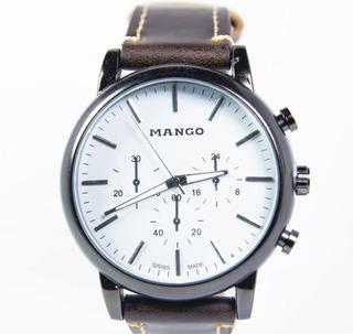 Reloj Masculino Mango 1560 - Original - Cuero