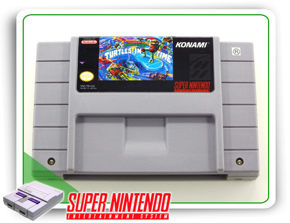 Tmnt 4 Turtles In Time Super Nintendo Snes Original
