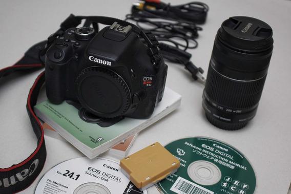 Câmera Dslr Canon T3i + Lente Ef-s 55-250mm Isiii