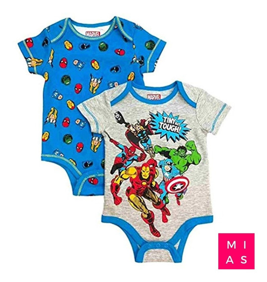 Body Suit Marvel Avengers Super Hero Bebe 2 Unidades
