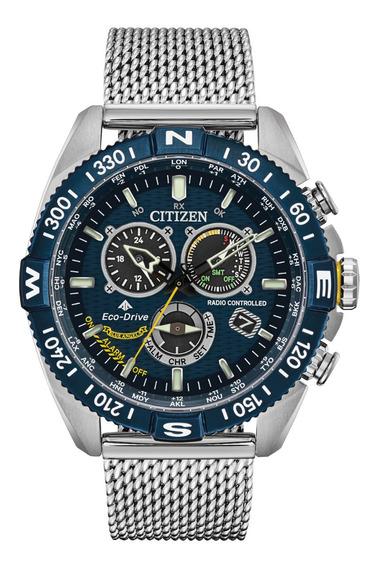Relógio Citizen Cb5848-57l Navihawk Blue Angels Lançamento