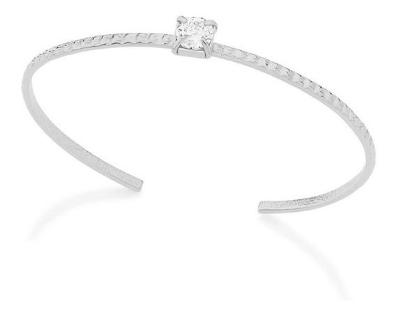 Pulseira Bracelete Rommanel Aro Com Zircônia 150307 Prateado