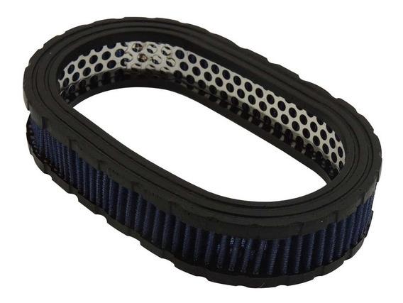 Filtro Oval Esportivo Elemento Filtrante Marmita 40mm Vermel