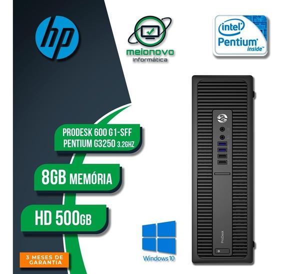 Cpu Hp Prodesk 600 G1 - Pentium G3250 3.2ghz 8gb 500gb