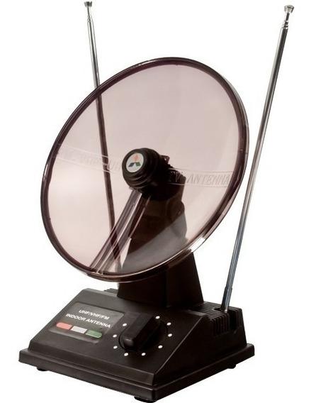 Antena Tv Interna Uhf / Vhf / Hdtv Mini Parabolica Barata