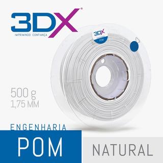 Filamento Pom 1,75 Mm | 500g (poliacetal) Natural 3dx