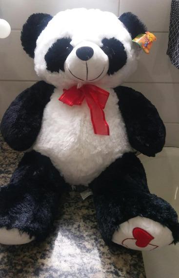 Urso De Pelúcia Panda 60 Cm Lindo Pandinha