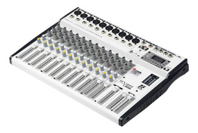 Mesa De Som Staner 12 Canais Mx-1203 Usb Bluetooth E Usb/fm