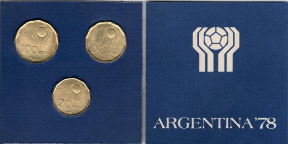 Spg Argentina Blister Mundial 1978 3 Monedas Cuños 1977