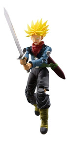 Boneco Sh Figuarts Future Trunks Dragon Ball Azul Lacrado