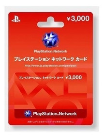 Cartão Psn Japonesas ¥3000 (3 Mil Ien) O Mais Barato Do Ml