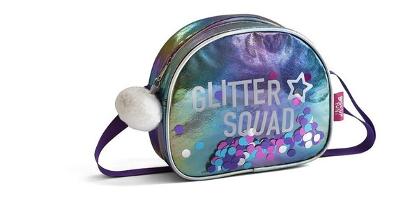 Cartera Lentejuelas Pf 80552 Glitter Squad Cuerina Educando