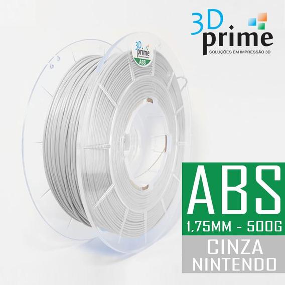 Filamento 3d Prime Abs Cinza Claro (nintendo) 1,75mm 500g