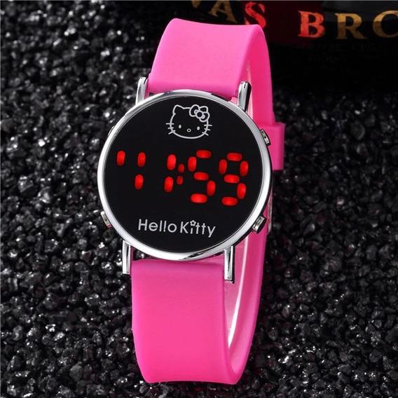 Relógio Da Hello Kitty Estudante Luz Digital Em Promoção