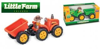 Trator Little Farm Com Basculante Uusual Plastic