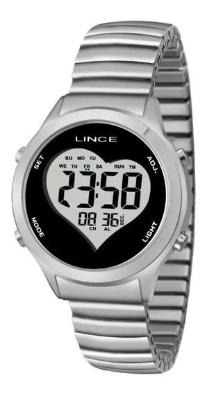 Relógio Lince Luxo Feminino Sdph063l Bpsx Digital Inoxidável