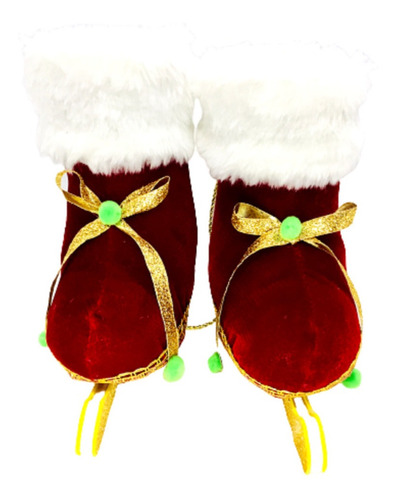 Patines De Hielo Santa Claus De Navidad Colgante Para Puerta