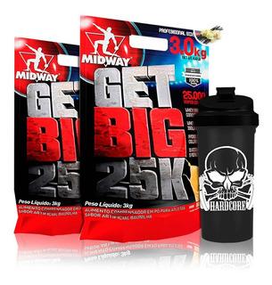 Combo 2 Hipercalórico Get Big 3kg + Coq Midway