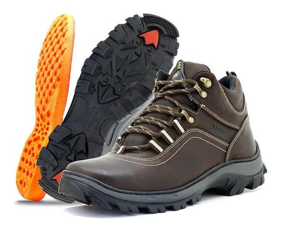 Bota Coturno Trilha Couro Legitimo Latego Atron Shoes 260