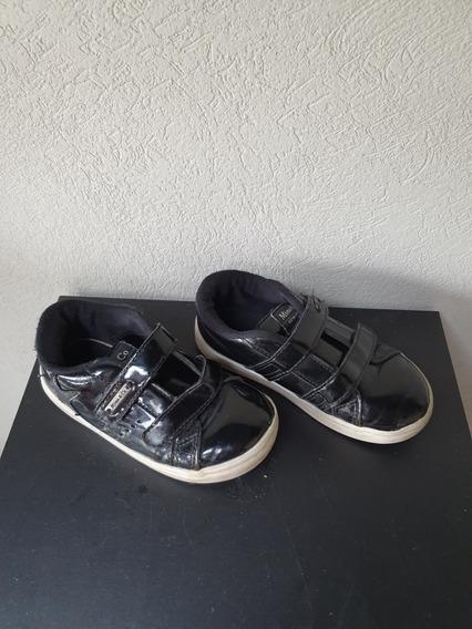 Zapatillas Mimo Charol Negro Talle 28