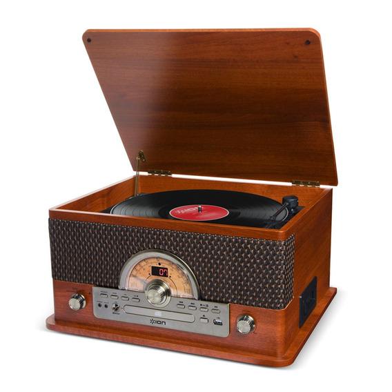 Ion Superior Discos Lp Toca-discos Retrô 7 Em 1 Radio Fm
