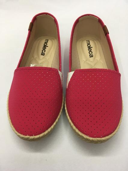 Sapatilha Alpargata Microperfuros Moleca 5287.110 - Pink