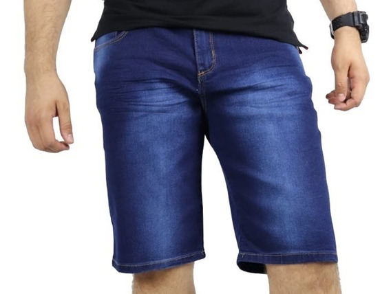 Bermudas Masculina Jeans Com Lycra
