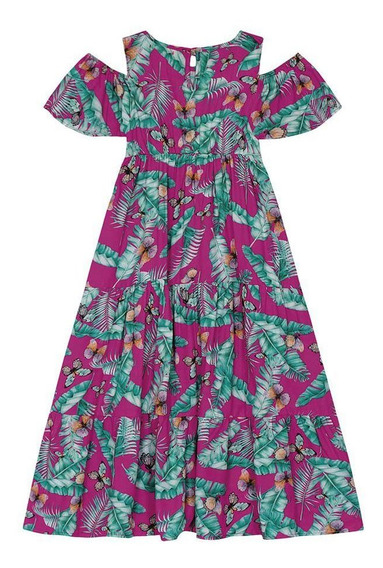 Vestido Feminino Rovitex 1115652 Fúcsia Tamanho 4