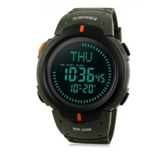 Relógio Sport Com Bússola Militar Led Digital Skmei 1231