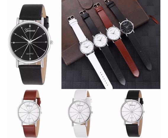 Relojes Geneva Para Hombre De Lujo Elegante Piel Mayoreo