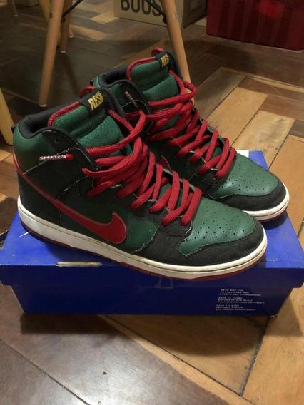Tênis Nike Sb Dunk High Resn Gucci