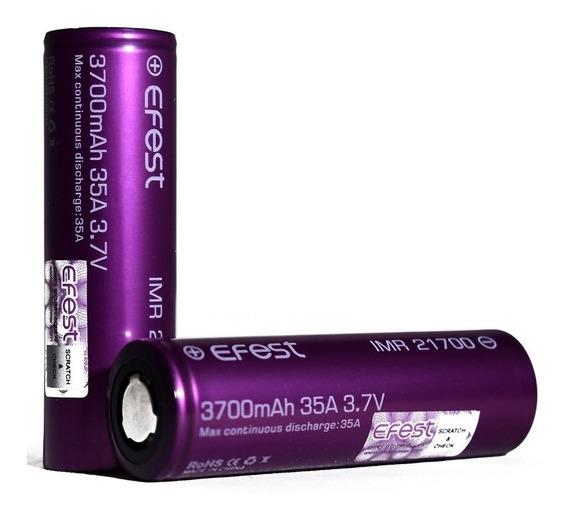 Par De Baterias Efest Imr 21700 3700mah 35a High Drain