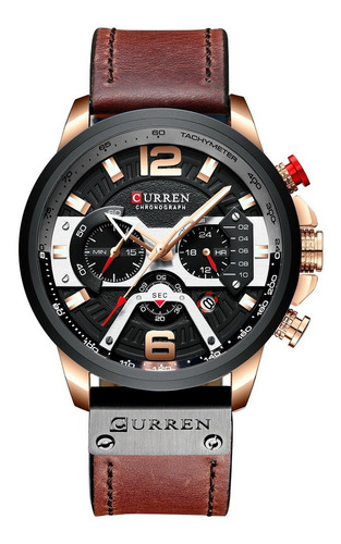 Curren Relógio Business Quartz Watch Couro De Luxo