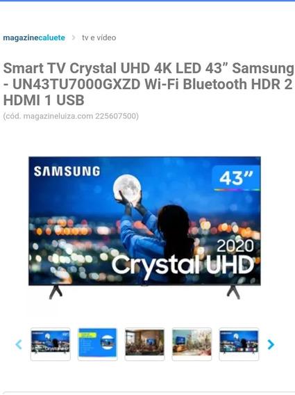 Smart Tv Crystal Uhd 4k Led 43 Samsung-un43tu7000gxzd Wi-fi
