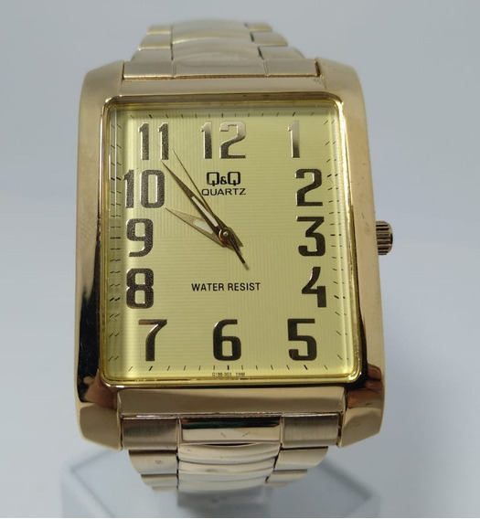 Relógio Q&q By Citizen Dourado Números Q186-003y