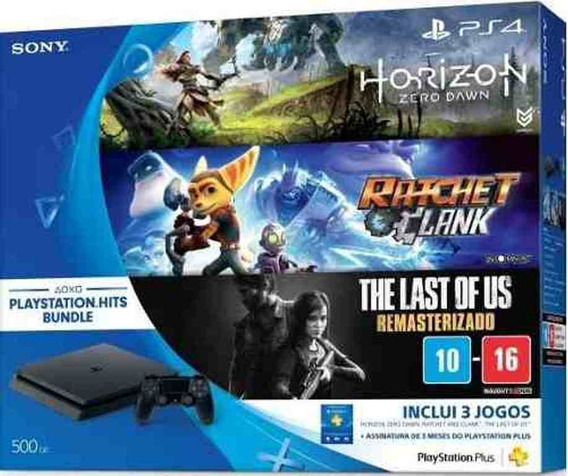 Console Playstation 4 Slim 500gb + 3 Jogos