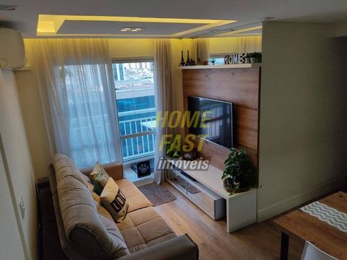 Apartamento Com 2 Dormitórios À Venda, 56 M² Por R$ 370.000 - Vila Das Palmeiras - Guarulhos/sp - Ap2363