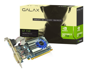 Placa De Vídeo Vga Galax Nvidia Geforce Gt 710 Mainstream 1g