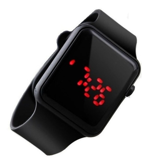 Relógio De Pulso Digital Led Masculino Feminino Unisex Preto