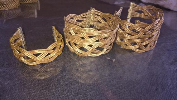 Pulseira Entrançado Em Capim Dourado 25 Und