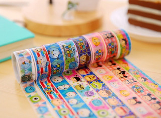 Genial Set Washi Tape Tsum Tusm Cinta Adhesiva Decorativa