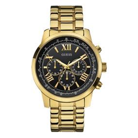 Relógio Masculino Guess 92526gpgdda5 Cronógrafo Dourado