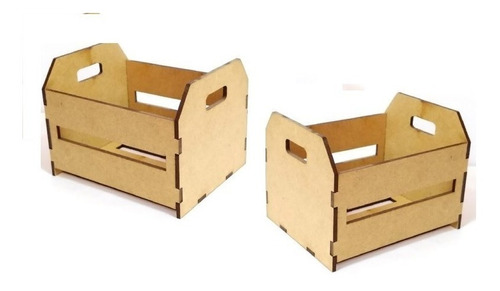 Imagem 1 de 3 de Kit Com 20 Mini Caixotes Caixas De Feira Mdf Lembrancinhas