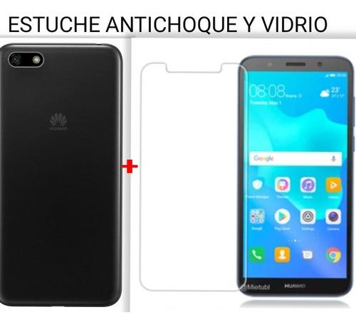 Vidrio Biselado Y Estuche Huawei Y5 Neo 2020
