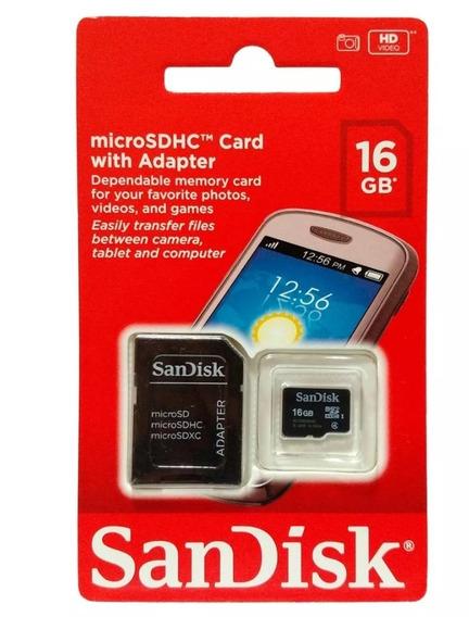 Cartão De Memória Micro Sd 16 Gb Sandisk Original